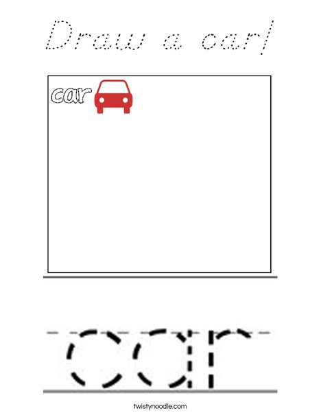 Draw a car! Coloring Page