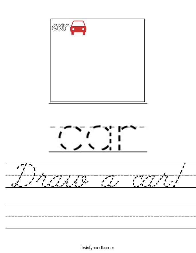 Draw a car! Worksheet