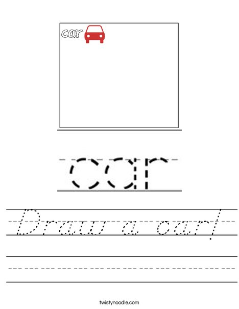 Draw a car! Worksheet