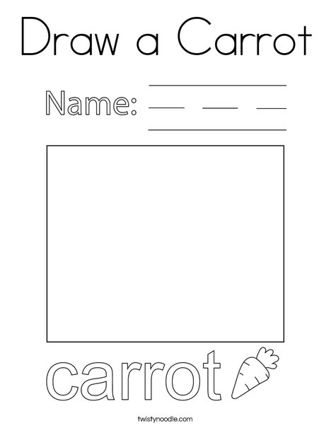 Draw a Carrot Coloring Page