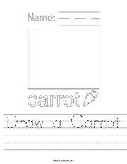 Draw a Carrot Handwriting Sheet