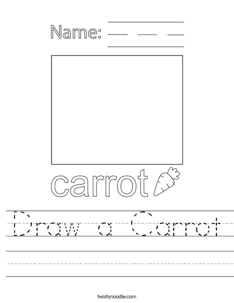 Draw a Carrot Worksheet