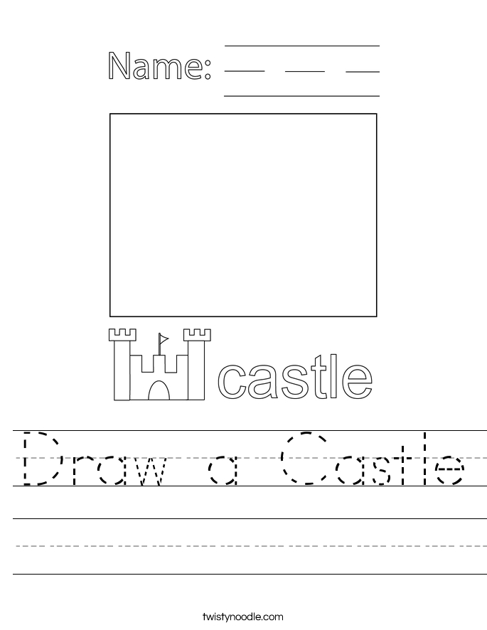 Draw a Castle Worksheet