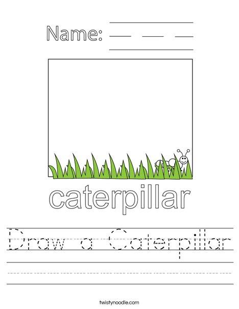 Draw a Caterpillar Worksheet