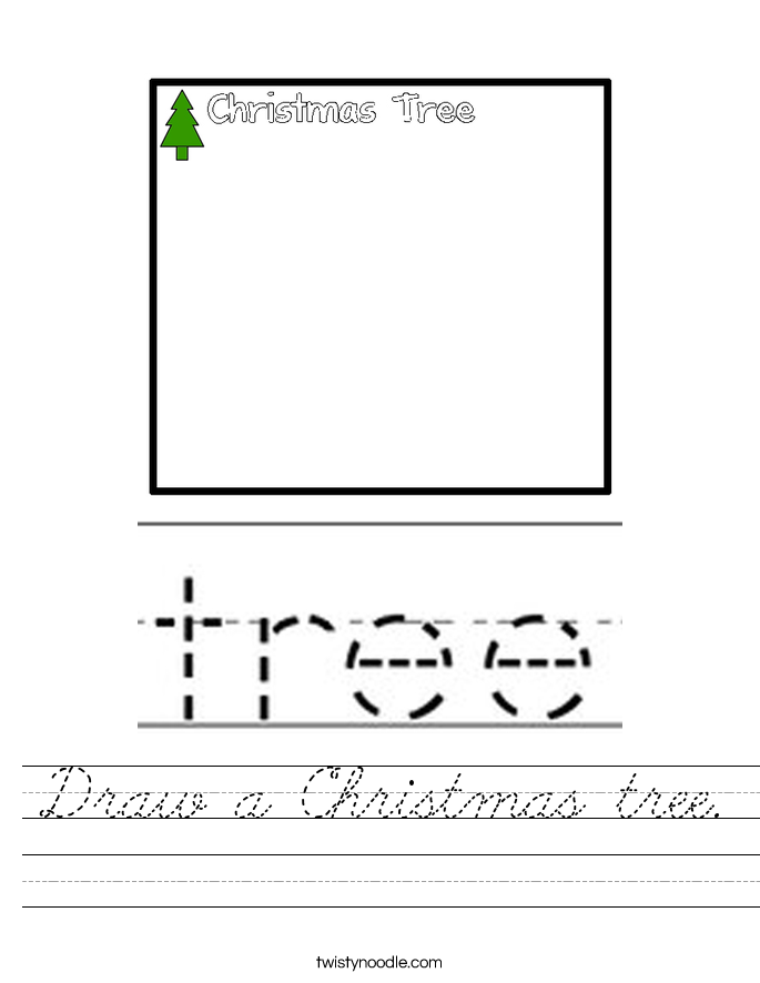 Draw a Christmas tree. Worksheet