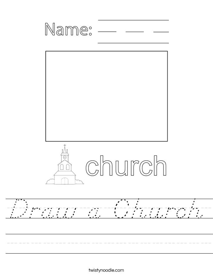 Draw a Church Worksheet