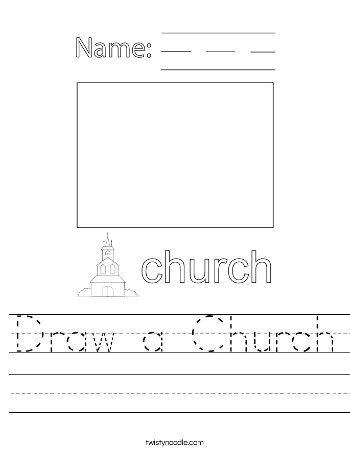 Draw a Church Worksheet