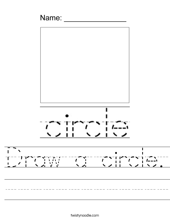 Draw a circle. Worksheet