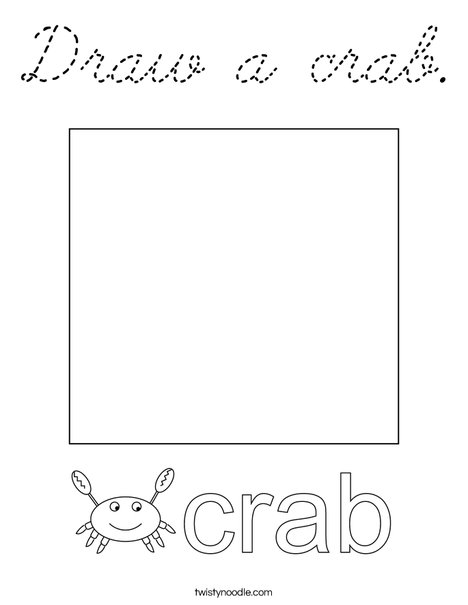 Draw a crab. Coloring Page