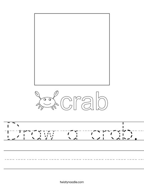 Draw a crab. Worksheet