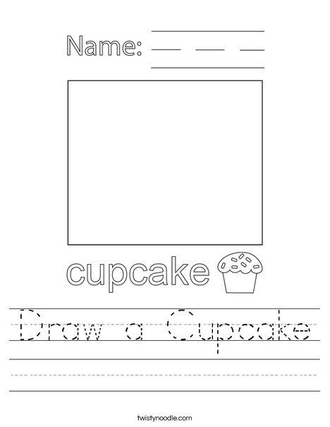 Draw a Cupcake Worksheet