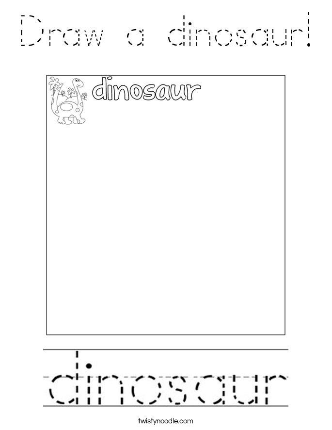 Draw a dinosaur! Coloring Page