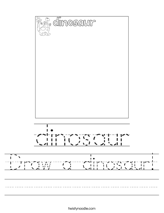 Draw a dinosaur! Worksheet