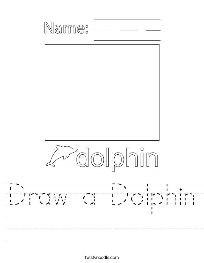 Draw a Dolphin Worksheet