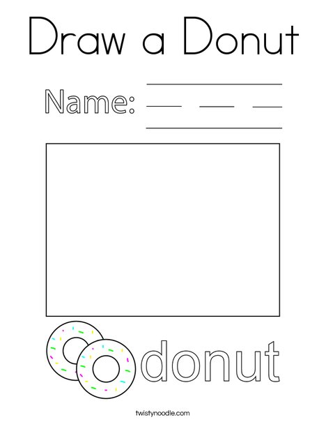 Draw a Donut Coloring Page