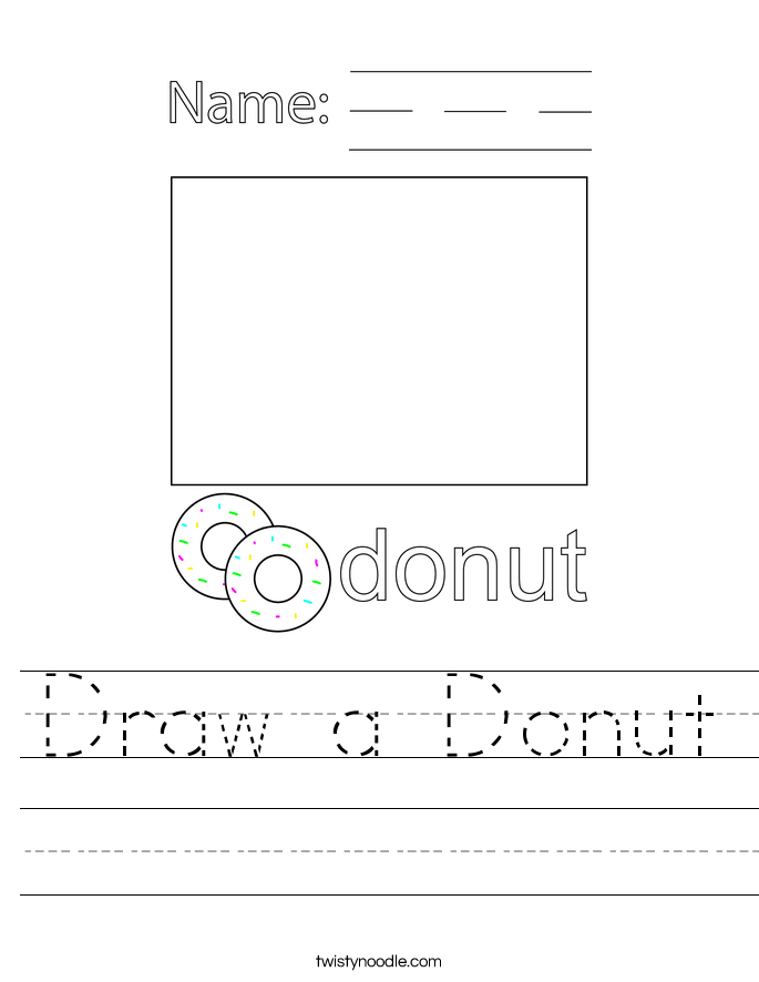 Draw a Donut Worksheet