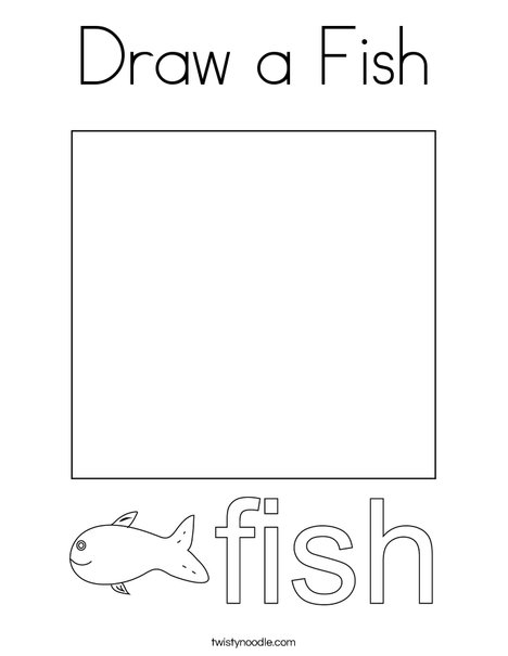 Draw a Fish Coloring Page