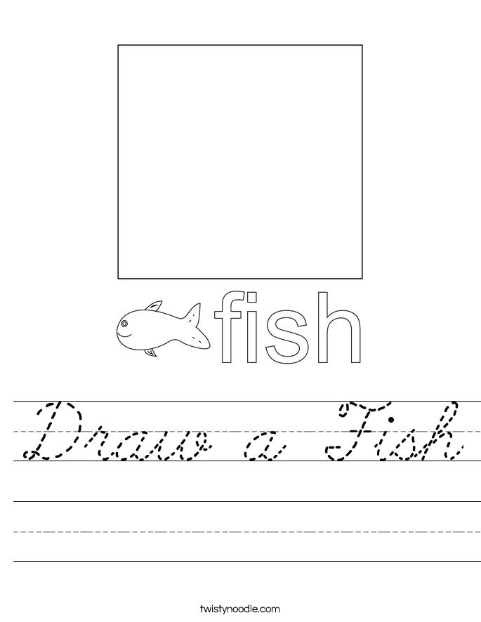 Draw a Fish Worksheet