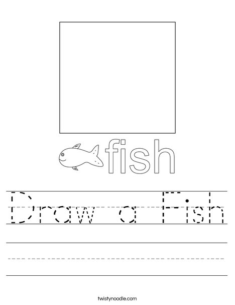 Draw a Fish Worksheet