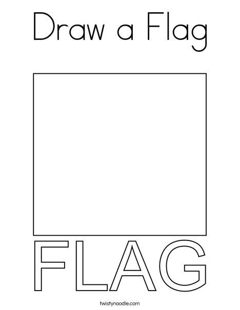 Draw a Flag Coloring Page