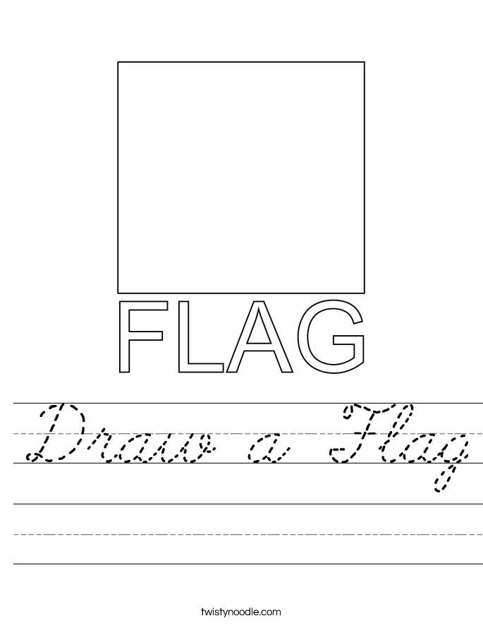 Draw a Flag Worksheet