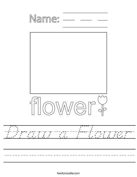 Draw a Flower Worksheet