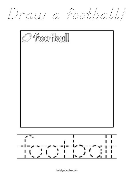 Draw a football! Coloring Page