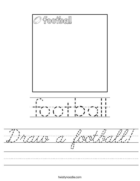 Draw a football! Worksheet