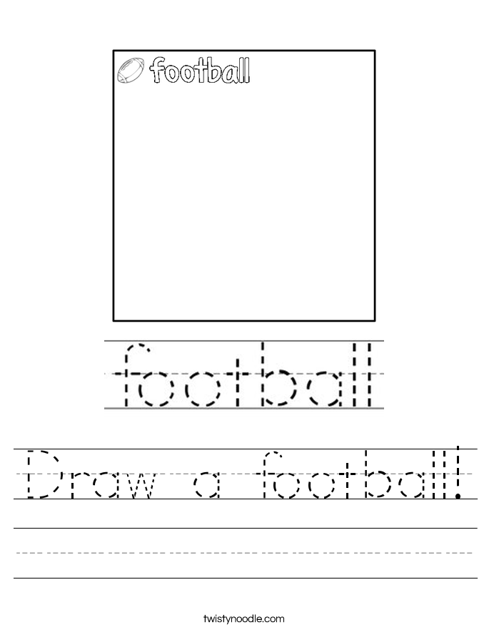 Draw a football! Worksheet