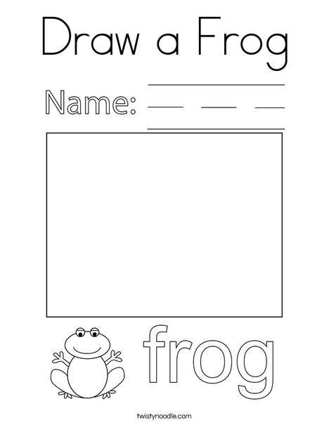 Draw a Frog Coloring Page