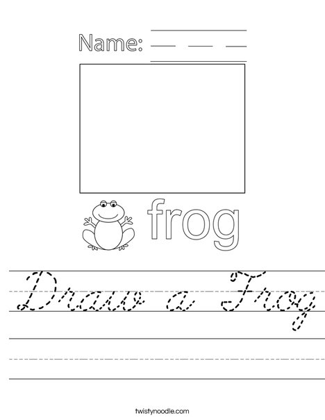 Draw a Frog Worksheet