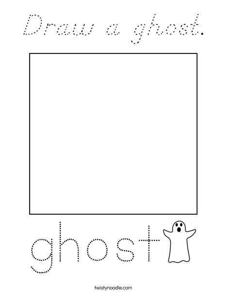 Draw a ghost. Coloring Page