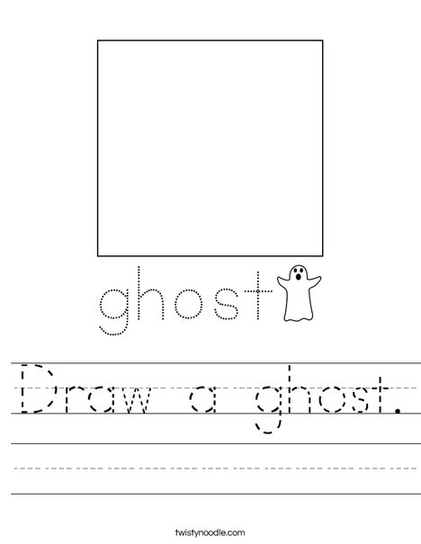 Draw a ghost. Worksheet