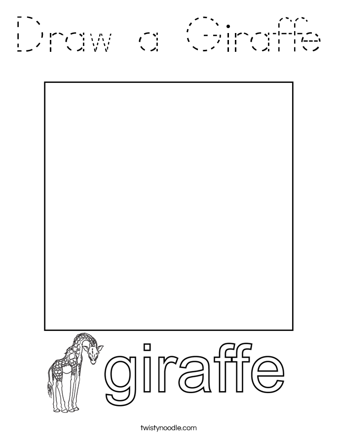 Draw a Giraffe Coloring Page