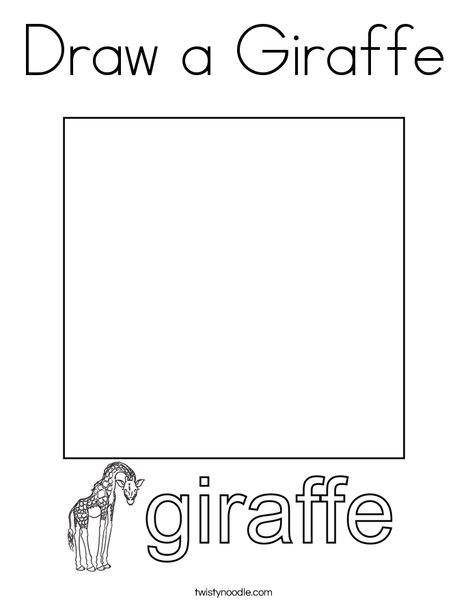 Draw a Giraffe. Coloring Page