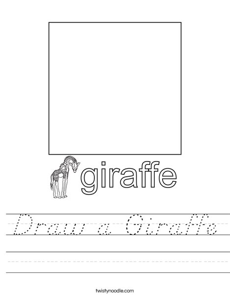 Draw a Giraffe. Worksheet