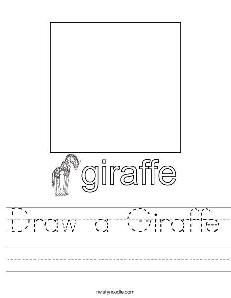 Draw a Giraffe. Worksheet
