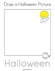 Draw a Halloween Picture Coloring Page