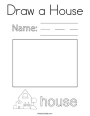 Draw a House Coloring Page