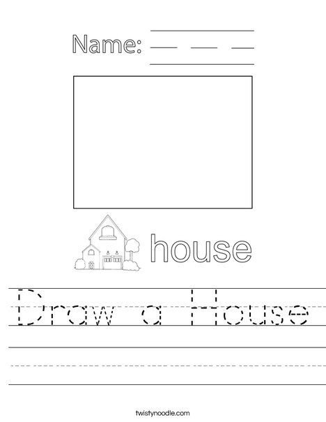 Draw a House Worksheet
