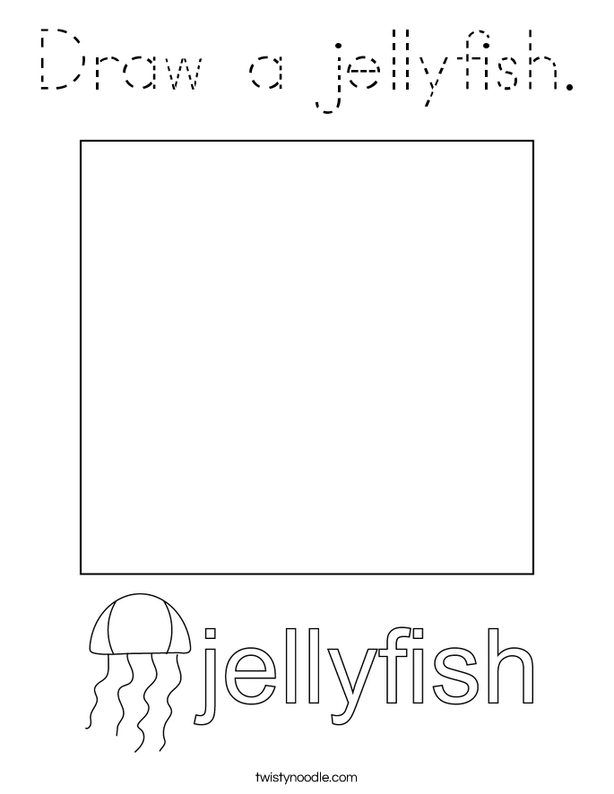 Draw a jellyfish. Coloring Page