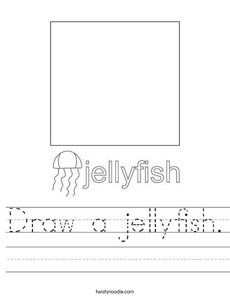 Draw a Jellyfish. Worksheet