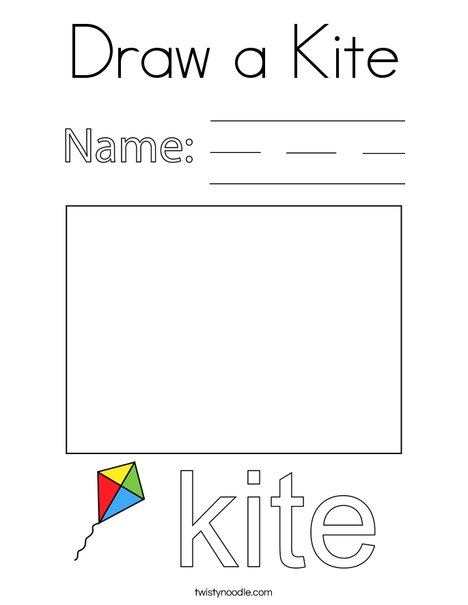 Draw a Kite Coloring Page