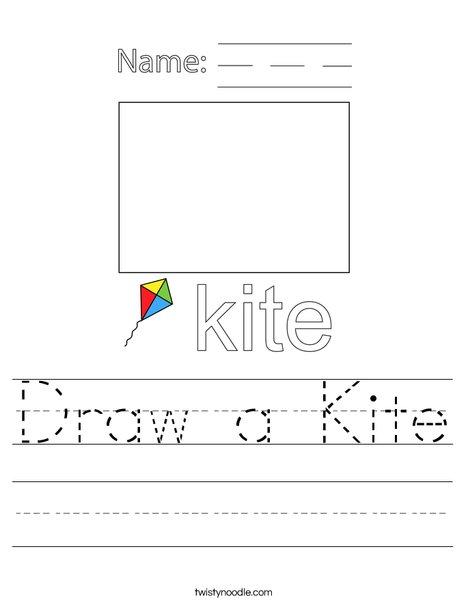 Draw a Kite Worksheet