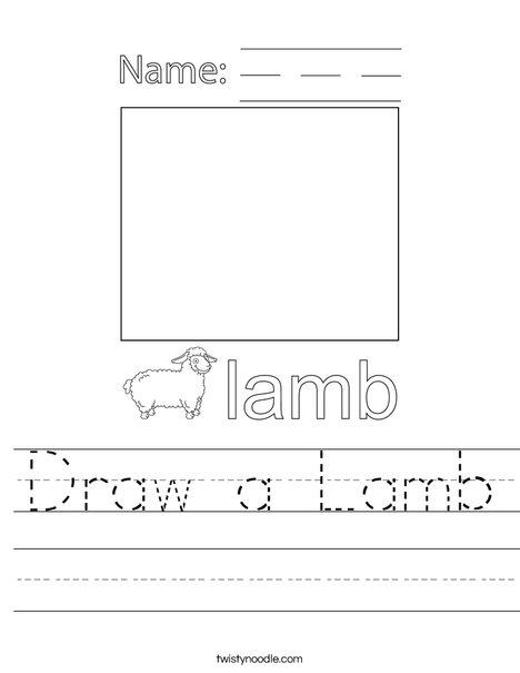 Draw a Lamb Worksheet