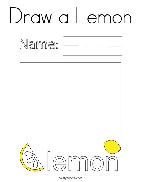 Draw a Lemon Coloring Page