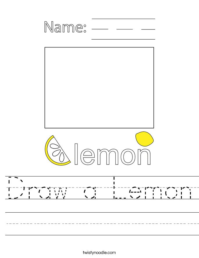 Draw a Lemon Worksheet