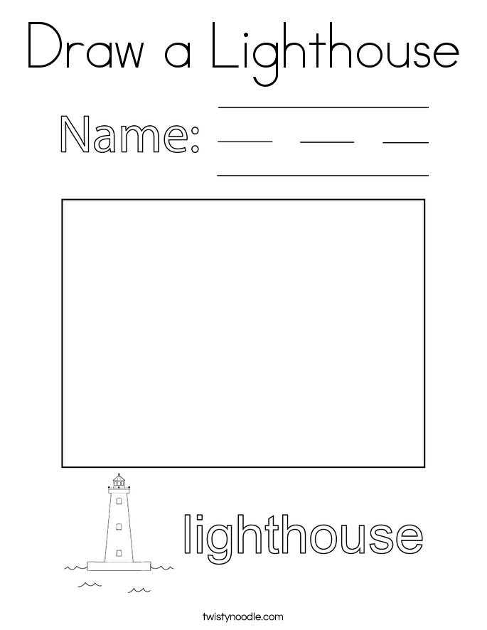 Draw a Lighthouse Coloring Page