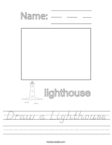 Draw a Lighthouse Worksheet