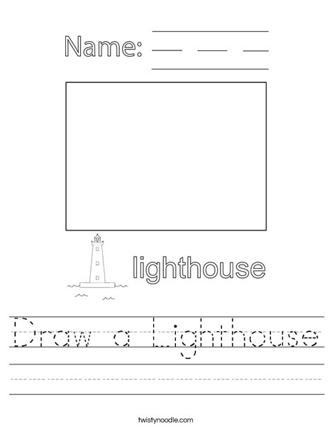 Draw a Lighthouse Worksheet